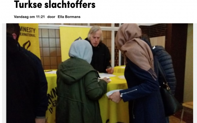 Amnestygroep Hasselt in de bres voor Turkse slachtoffers